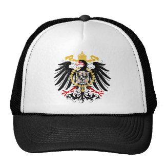Noir rouge prussien et or d'Eagle Casquette