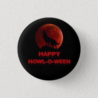 Noir rouge sang de Halloween de lune de loup-garou Badges