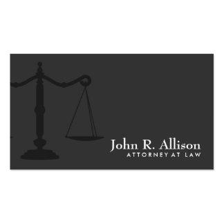 Noir simple de mandataire d'échelle de justice carte de visite standard