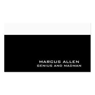 Noir simple et blanc cartes de visite personnelles