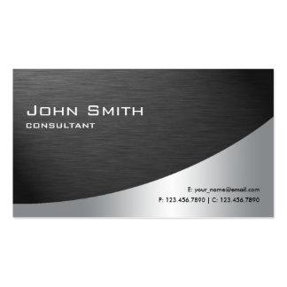 Noir simple moderne élégant en métal professionnel carte de visite standard