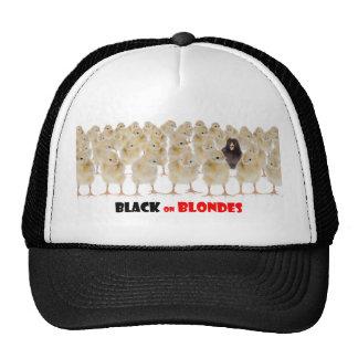 Noir sur des blondes casquettes de camionneur
