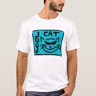 NOIR SUR LE BLEU (CAT FRAIS) T-SHIRT