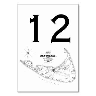Noir vintage de carte de mA d'île de Nantucket