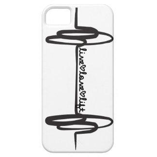 Noir vivant de griffonnage d'ascenseur d'amour coque iPhone 5 Case-Mate