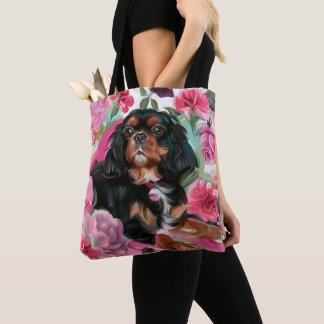 Noircissez et bronzez floral rose cavalier du sac