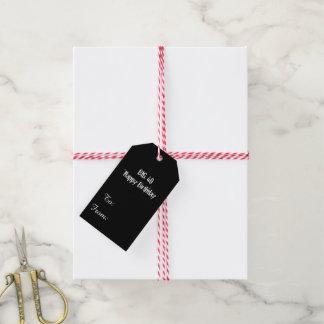 Noircissez la quarantième fête d'anniversaire étiquettes-cadeau