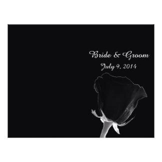 Noire rose plié épousant le programme prospectus 21,6 cm x 24,94 cm