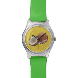 Noix de coco de temps d'été montres