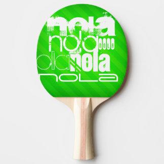 NOLA ; Rayures vertes au néon Raquette De Ping Pong