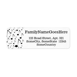 Nom/adresse faits sur commande + Motif de beaucoup Étiquette D'adresse Retour