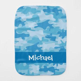 Nom bleu de camouflage de Camo personnalisé Linge De Bébé