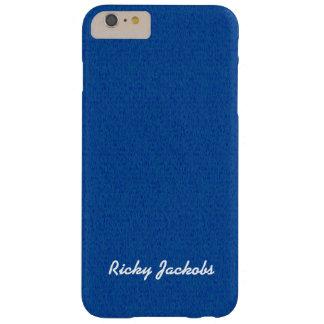 Nom bleu de coutume de lueur vacillante coque barely there iPhone 6 plus