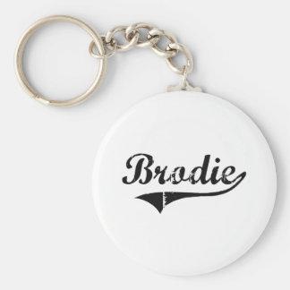 Nom classique de style de Brodie Porte-clé Rond