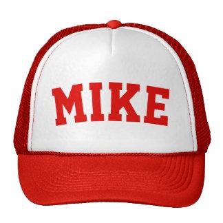 Nom court rouge personnalisé casquette trucker