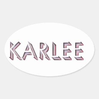 Nom d'autocollant de Karlee Sticker Ovale