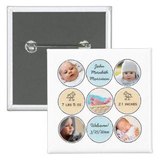 Nom de bébé de collage de photo, stat de naissance