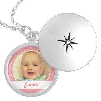 Nom de bébé et collier personnalisé par photo