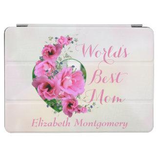 Nom de coutume de bouquet de coeur de fleur de protection iPad air