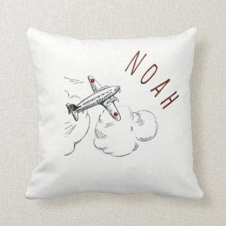 Nom de cru de coussin d'enfants de nuages d'avion