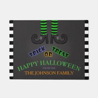 Nom de famille : Tapis de porte de Halloween de