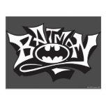 Nom de graffiti de Batman Carte Postale
