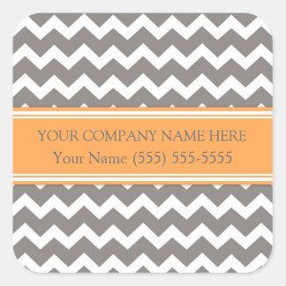 Nom de la société fait sur commande Chevron gris Sticker Carré