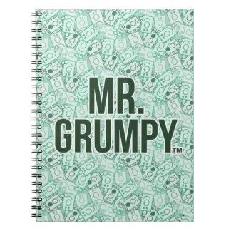Nom de M. Grumpy | et motif verts de lancer de Carnets À Spirale
