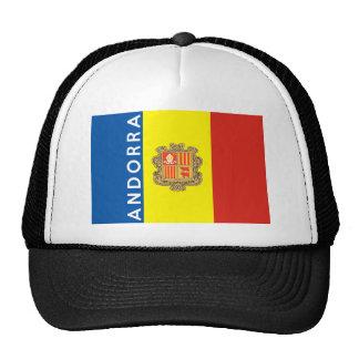 nom des textes de drapeau de pays de l'Andorre Casquettes