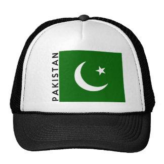 nom des textes de drapeau de pays du Pakistan Casquette