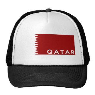 nom des textes de drapeau de pays du Qatar Casquette Trucker