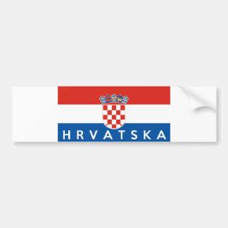 nom des textes de hrvatska de pays de drapeau de autocollant pour voiture