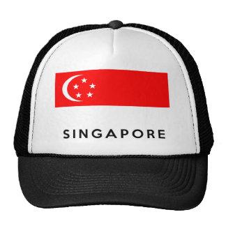 nom des textes de pays de drapeau de Singapour Casquette Trucker