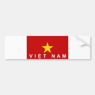 nom des textes de pays de drapeau du Vietnam Autocollant De Voiture