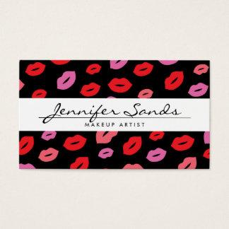 Nom élégant avec la copie fascinante de lèvre pour cartes de visite