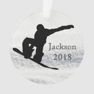 Nom et date faits sur commande de snowboarding