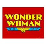 Nom et logo de femme de merveille carte postale