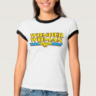 Nom et logo de femme de merveille t-shirt