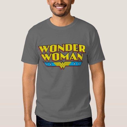 Nom et logo de femme de merveille t-shirts