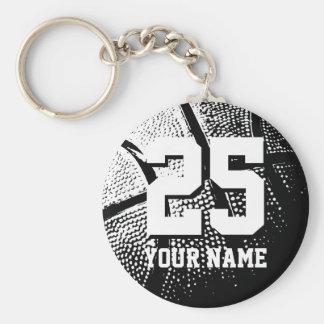 Nom et nombre personnalisés du keychain | de baske porte-clef