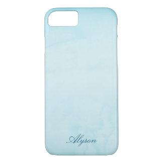 Nom fait sur commande bleu-clair coque iPhone 7