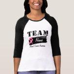 Nom fait sur commande d'équipe - cancer du sein t-shirts