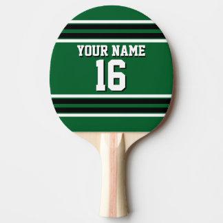 Nom fait sur commande noir de nombre de Jersey Raquette De Ping Pong