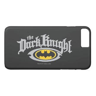 Nom foncé du chevalier   de Batman et logo ovale Coque iPhone 8 Plus/7 Plus