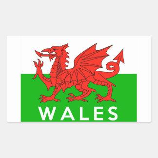 nom gallois des textes de drapeau de pays du Pays Sticker Rectangulaire