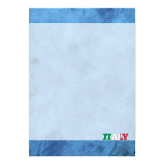 Nom italien et drapeau sur le mur frais carton d'invitation  12,7 cm x 17,78 cm