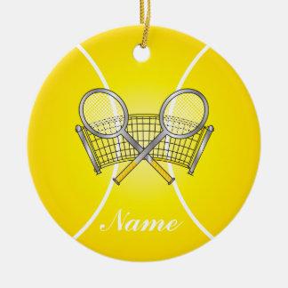 Nom jaune de la balle de tennis | do-it-yourself ornement rond en céramique