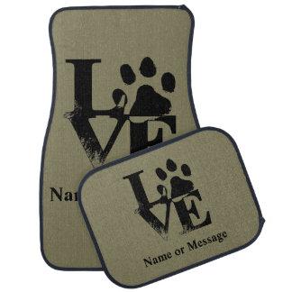 Nom ou message fait sur commande de patte de chien tapis de voiture