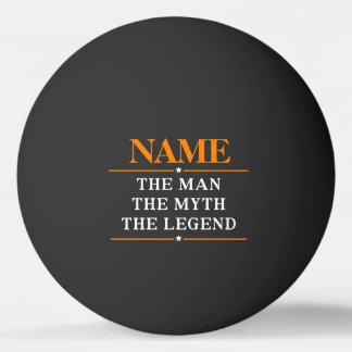 Nom personnalisé l'homme le mythe la légende balle tennis de table