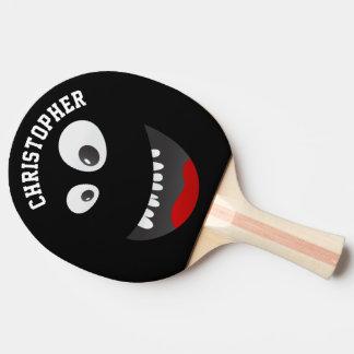 Nom personnalisé par nouveauté effrayante noire raquette tennis de table